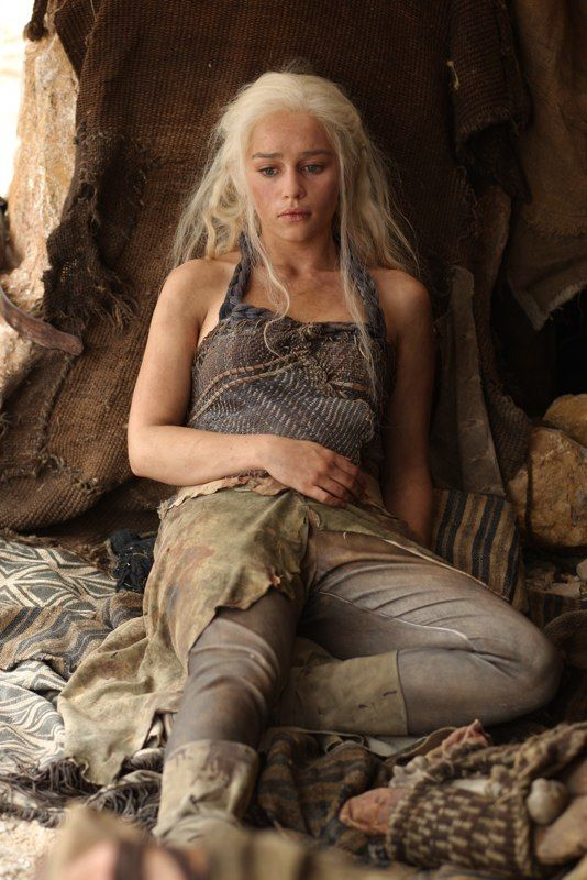 Daenerys Targaryen...poor girl looks like she needs a nice cuddle ...from me !! ;-)