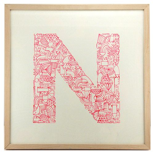 Illustrated type print by Mike Perry #MikePerry