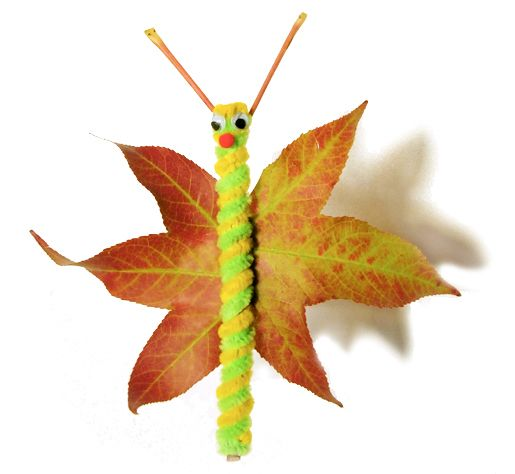 Fall Leaf Butterfly Craft