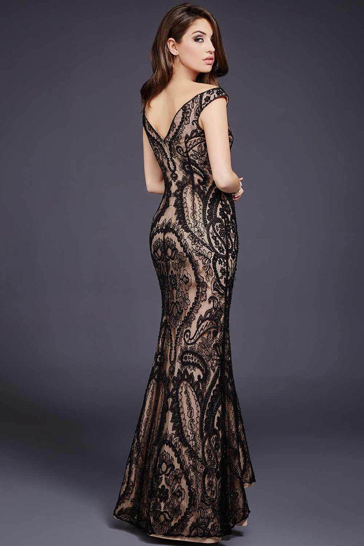 34 mejores imágenes sobre Lace Black & Nude Gown en Pinterest ...