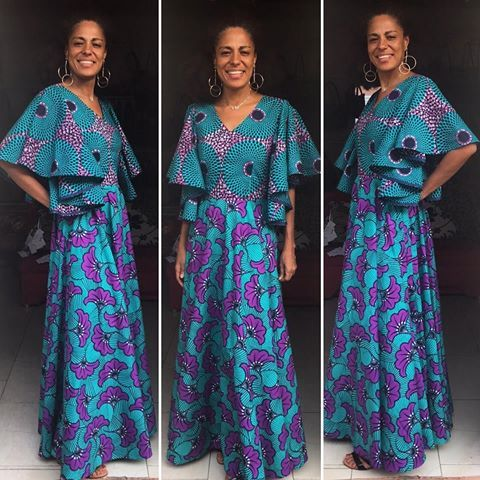 L E Robe Princesse En Pagne Wax Vlisco Vliscofashion Vliscooutfit African Print Clothing African Fashion African Dress