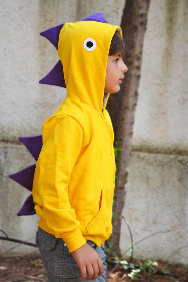 Sudadera de #Dragón o #Dinosaurio. http://www.hullitoys.com/disfraces/2877-sudadera-dragon-amarillo.html