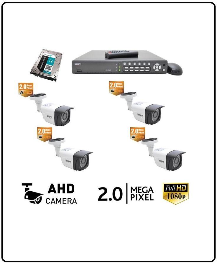 4 Kameralı Pro Güvenlik Kamera Seti