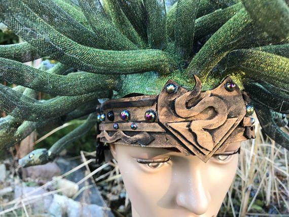 how to make a medusa headdress