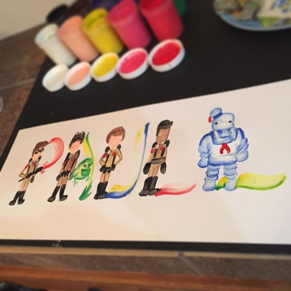 Hey, I found this really awesome Etsy listing at https://www.etsy.com/listing/212810043/ghostbusters-name-painting-custom