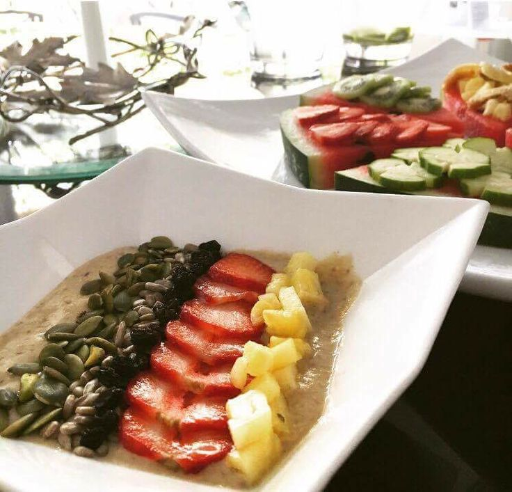 Delicious Raw Breakfast meal in Out of the Blue Capsis Elite Resort