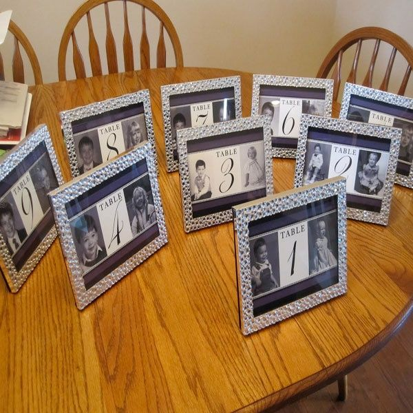 DIY ideas for table numbers at your wedding