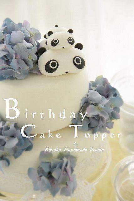 Birthday cake topper - Tare panda by charles fukuyama, via Flickr