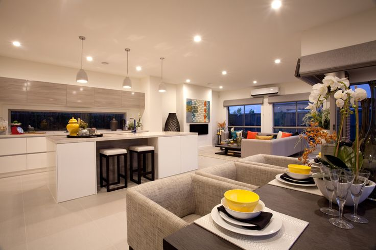 Beautiful open plan kitchen, meals and family room