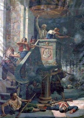 Cesar Álvarez Dumont, Defensa del púlpito del convento de San Agustin.