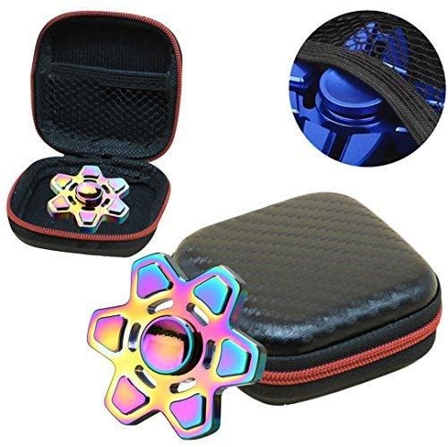 Creazy Gift For Fidget Hand Spinner Triangle Finger Toy Focus ADHD Autism Bag Case