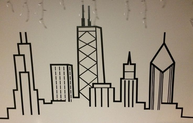 Washi tape skyline