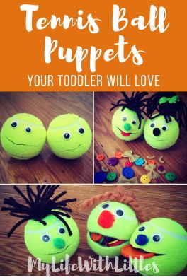 Tennis ball puppets your toddler will love! I would like to introduce you to…