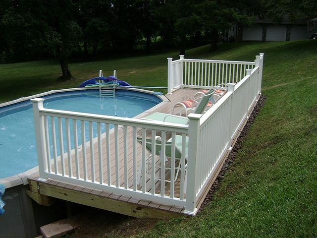 Azek Above Ground Pool Deck Ground Pools Decking And Yards