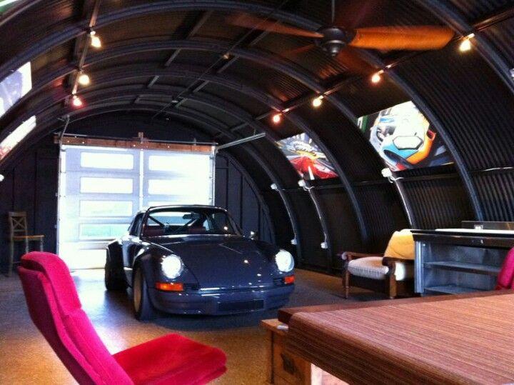 A man 39 s garage cars pinterest garajes taller y - Garajes para coches ...
