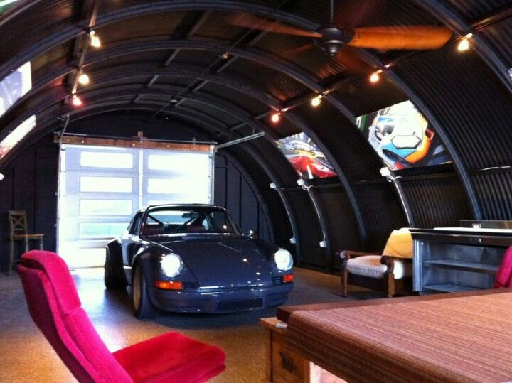 A man's garage.