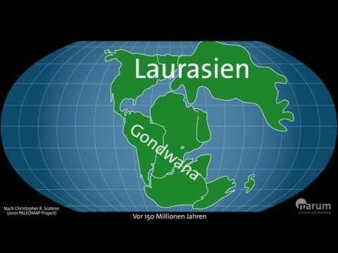 Wandernde Kontinente - Plattentektonik im Zeitraffer - YouTube