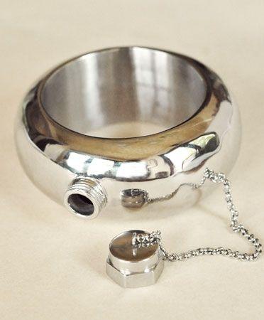 Cynthia Rowley Silver Secret Flask Bangle