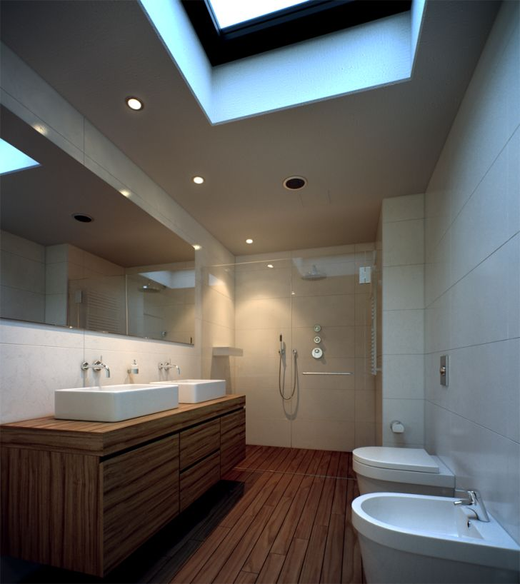 Making Of 3D Bathroom Interior Render At House