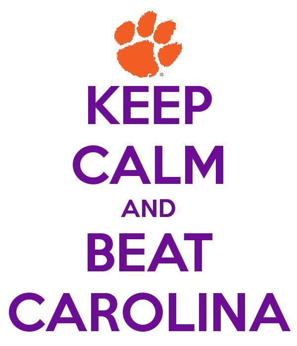 We did today; 17-35! Go tigers! [Clemson vs. South Carolina 2014]