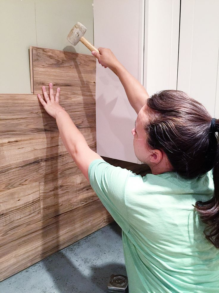 Diy Laminate Back Splash Wood Walls Are A Total Normal Thing Now I