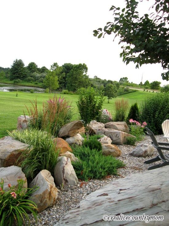 Best 25 boulder landscape ideas on pinterest large for Large bushes for landscaping