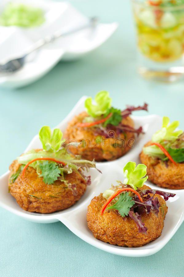 ทอดมันปลากราย Fried Fish Cake stock image. Image of curry - 25743131