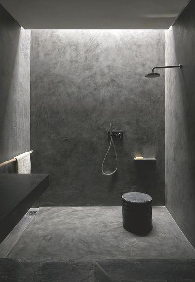 Une unité de ton dans la douche