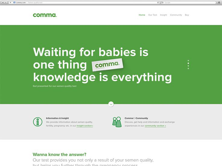 Comma, semen quality test