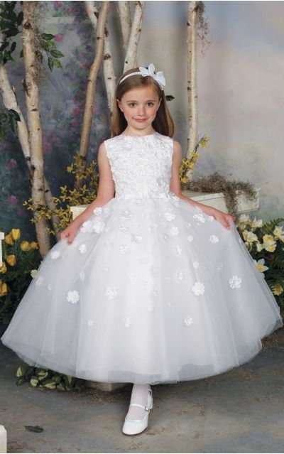 Organza Jewel Natural Ball Gown Ankle-length Bridesmaid Dresses 0740005