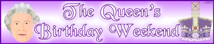 The Queen's Birthday Weekend display banners (SB9507) - SparkleBox