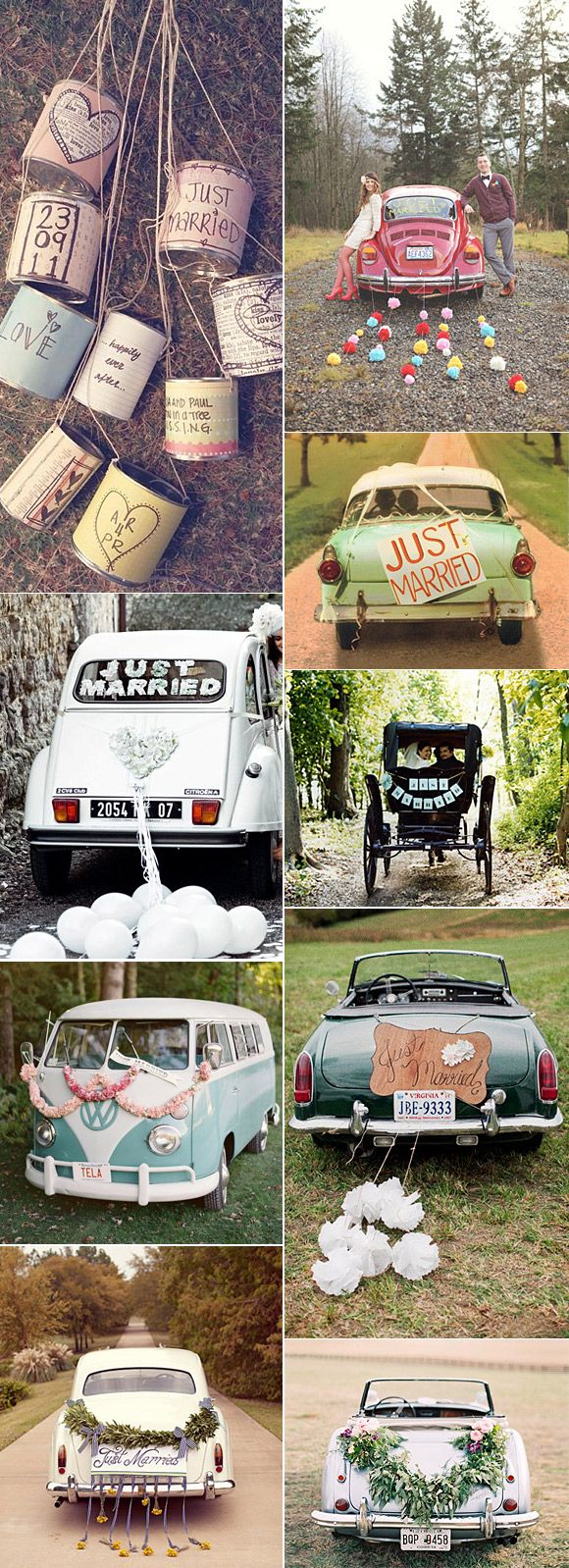 Ideas divertidas para decorar el coche de los novios el día de la boda. ¡HAY QUE SORPRENDER A LOS NOVIOS!