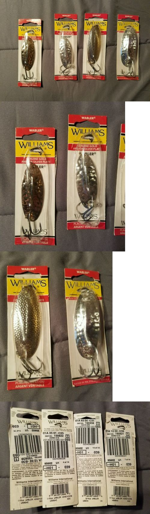 Spoons 31692: Lot Of 4 Williams Wabler Brand New 3 4 Oz And 1 2 Oz Fishing Spoon 50 And 60 -> BUY IT NOW ONLY: $30 on eBay!