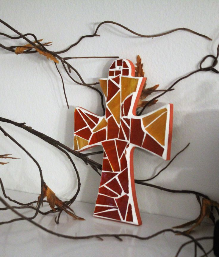 Excited to share the latest addition to my #etsy shop: Orange stained glass mosaic cross, Colorful gift idea, 4x6 mosaic cross, Monochromatic mosaic cross for orange lover, Confirmation for girl http://etsy.me/2CXjfCH #everythingelse #religious #blue #babyshower #brown