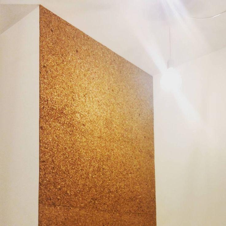Applicazione di #sughero a parete