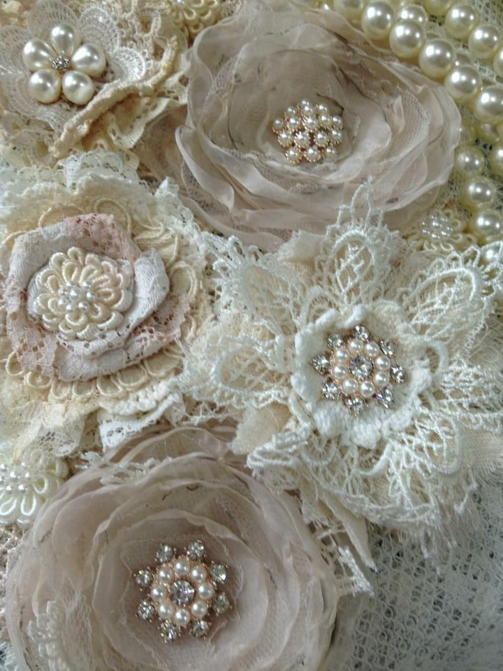 lace fabric flowers - Google Search