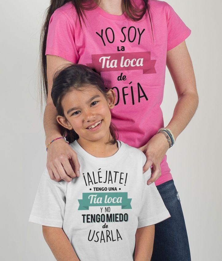 Camiseta dúo Tía loca