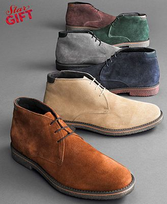 Alfani Boots Lancer Suede Chukka Boots Shoes But