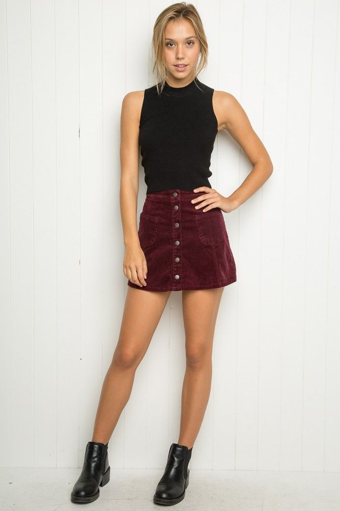 Brandy ♥ Melville | Sena Corduroy Skirt - Skirts - Bottoms - Clothing
