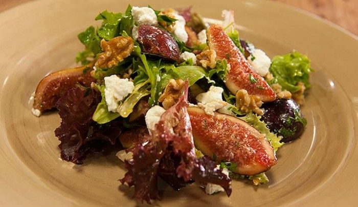 Fig, Goat's Cheese and Walnut Salad | Good Chef Bad Chef