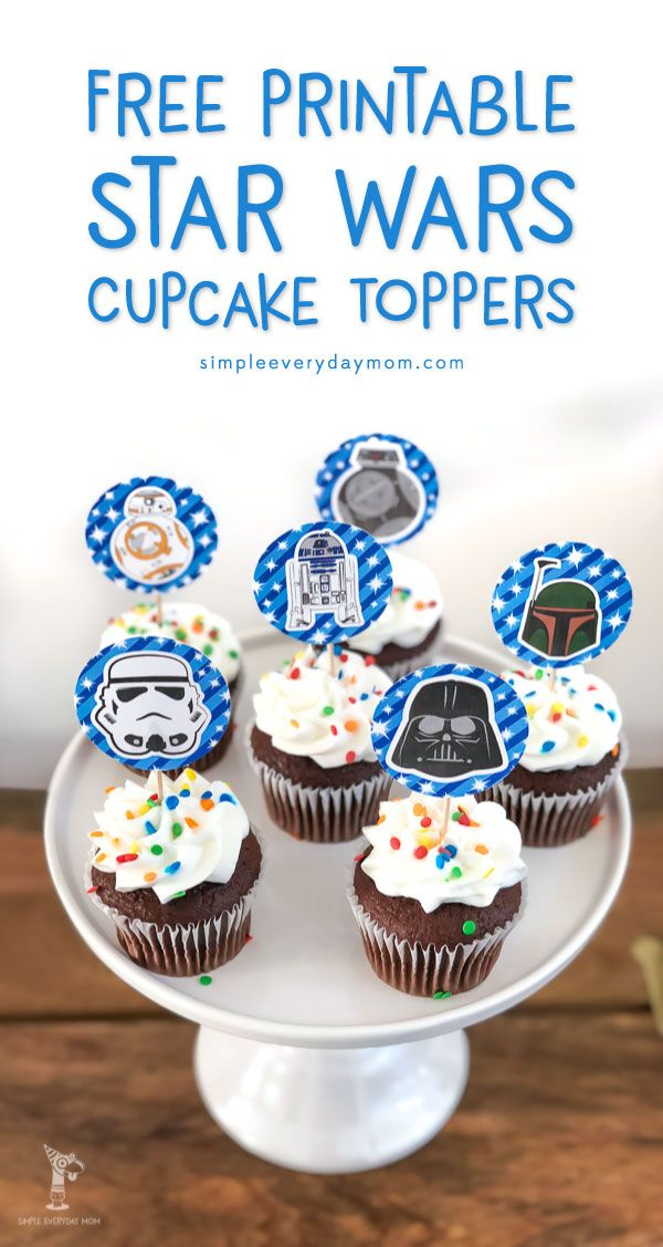 Free Printable Star Wars Cupcake Toppers For Boys Girls Star