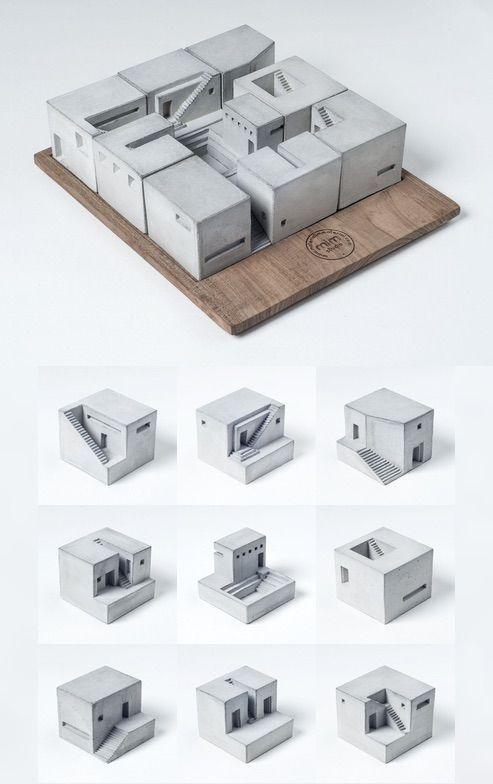 Concrete / Cubes / MAtière #arquitectura #maquetas