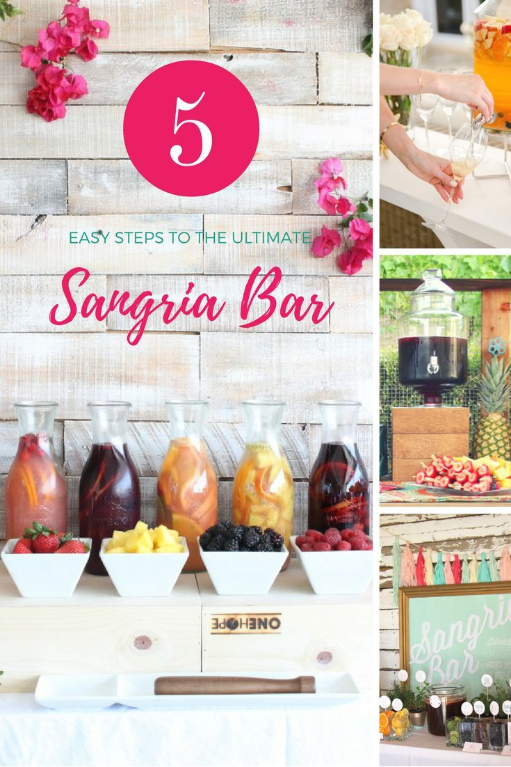 Set up a Sangria Bar with tips and tricks and lots of ideas!