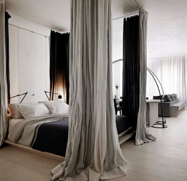 Curtains Around Bed Too...