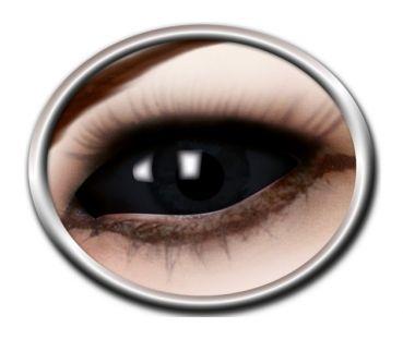 Kontaktlinsen Farbige Motivlinsen Sclera Lenses 22 mm diameter Halloween Fashing Black Eye