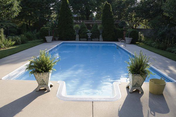 How To Resurface A Concrete Pool Deck Hunker Painted Pool Deck Concrete Pool Decks Around Pools