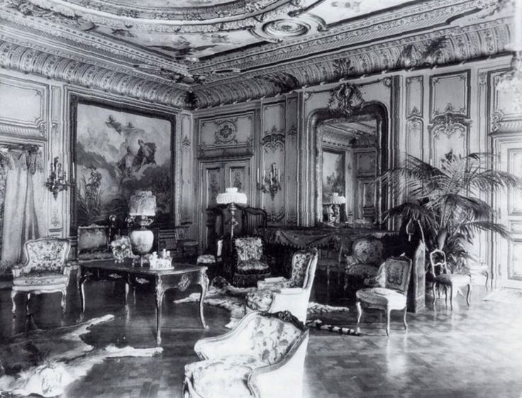 Drawing room, William K. Vanderbilt house, 1882, designed by Richard Morris Hunt, at 52nd and Fifth Avenue.