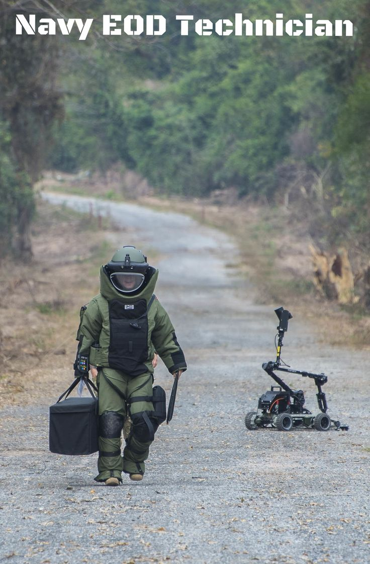Whether getting the job done in a bomb suit or by utilizing state-of-the-art robotic technology, Navy EOD Techs are trained to use the most advanced tools of their kind in a role that's vital to the safety of servicemembers and civilians.