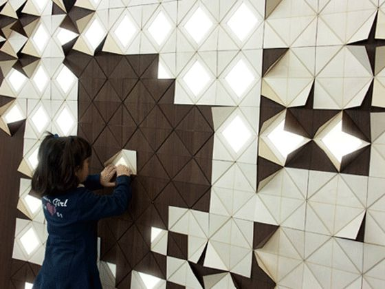 One can also turn origami into interactive wall décor, delivering a constantly changing art exhibition as part of the home setting.