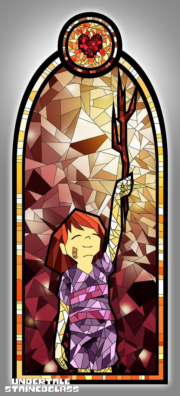 FRISK - Undertale Stained Glass by Aelorz